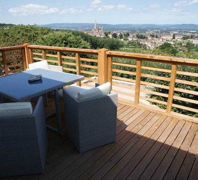 La terrasse - Chambre d'Hotes à Autun